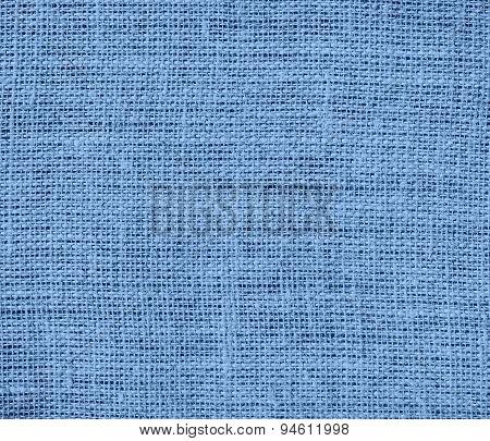 Dark pastel blue burlap texture background