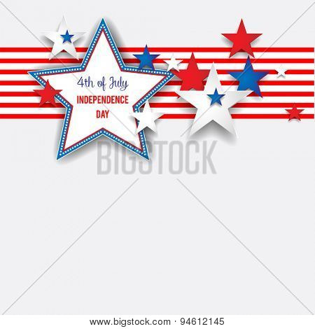 Independence day background with stars. Place for text for advertising, leaflet, cards, invitation and so on.