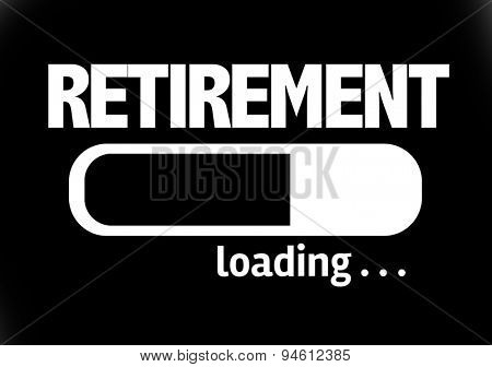 Progress Bar Loading with the text: Retirement
