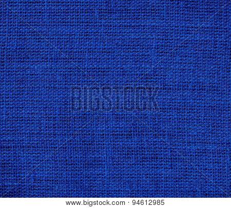 Dark powder blue burlap texture background