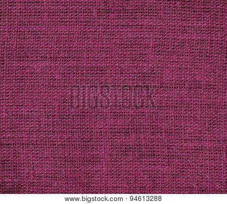 Dark raspberry burlap texture background