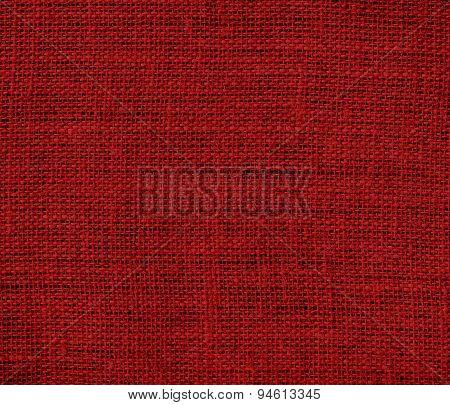 Dark red burlap texture background