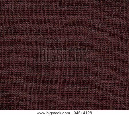 Dark sienna burlap texture background
