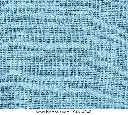 Dark sky blue burlap texture background