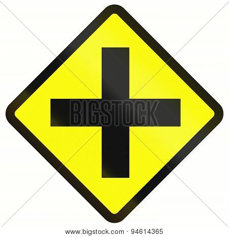 Intersection Ahead In Indonesia