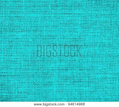 Dark turquoise burlap texture background