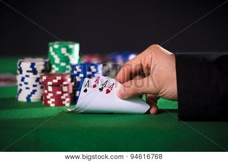 Poker Hand With Aces