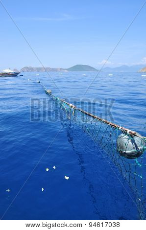 Trawling in the sea of Nha Trang bay