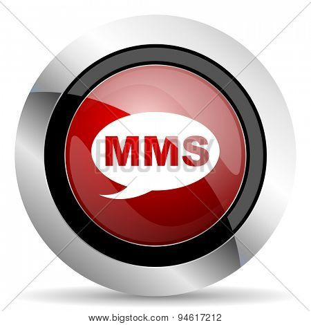 mms red glossy web icon original modern design for web and mobile app on white background