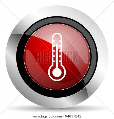 thermometer red glossy web icon original modern design for web and mobile app on white background