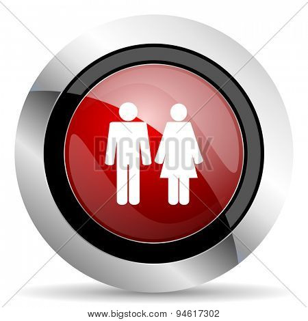 couple red glossy web icon original modern design for web and mobile app on white background