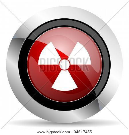 radiation red glossy web icon original modern design for web and mobile app on white background