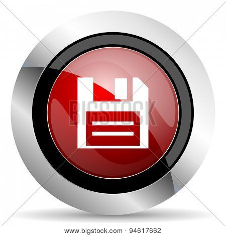 disk red glossy web icon original modern design for web and mobile app on white background