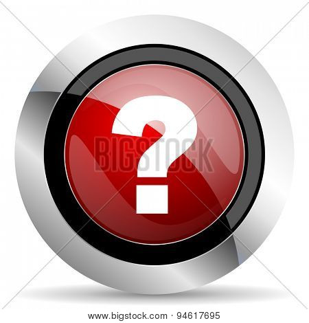 question mark red glossy web icon original modern design for web and mobile app on white background