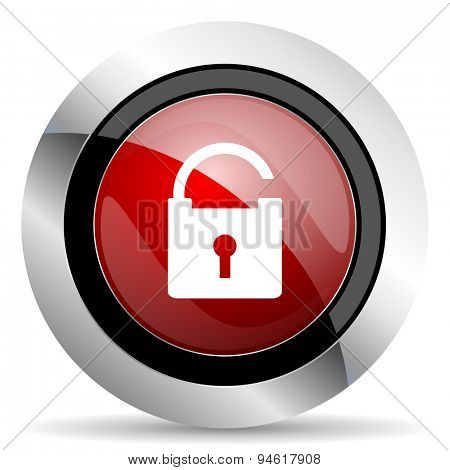 padlock red glossy web icon original modern design for web and mobile app on white background