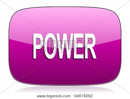 power violet icon  original modern design for web and mobile app on white background with reflection