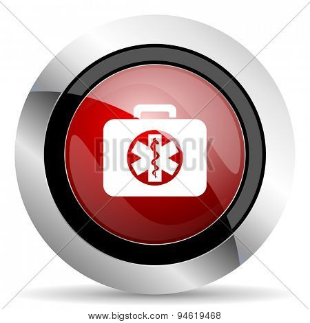 rescue kit red glossy web icon original modern design for web and mobile app on white background
