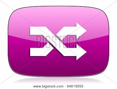 aleatory violet icon  original modern design for web and mobile app on white background with reflection