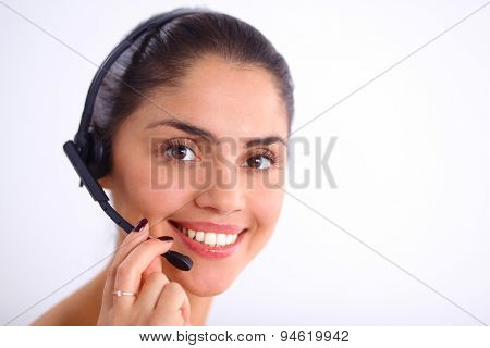 portrait of a customer service agent sitting at office