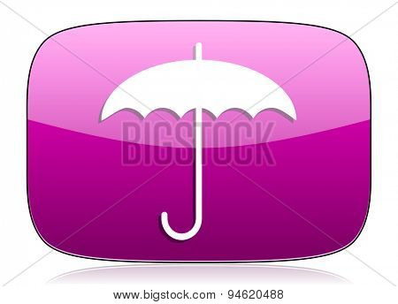 umbrella violet icon protection sign