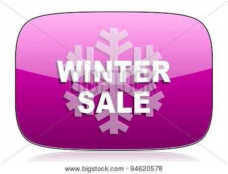 winter sale violet icon