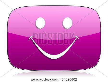 smile violet icon