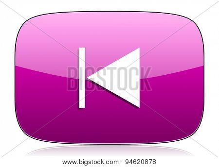 previous violet icon