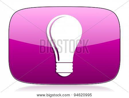 bulb violet icon idea sign