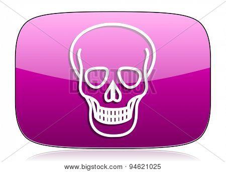 skull violet icon death sign