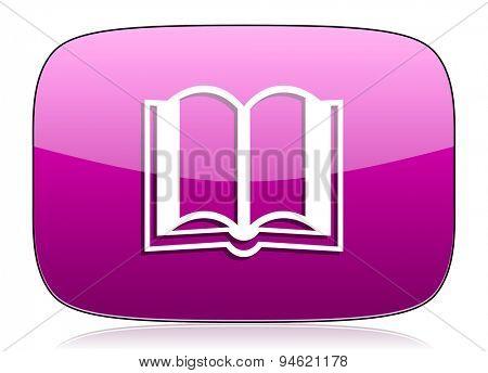 book violet icon