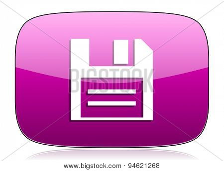 disk violet icon data sign