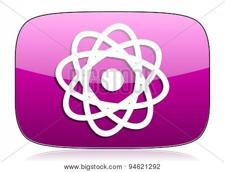 atom violet icon