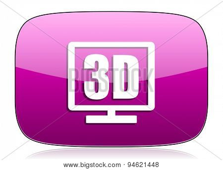 3d display violet icon