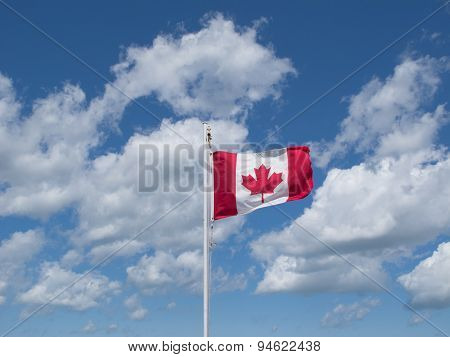 Maple Leaf Flag Flying High