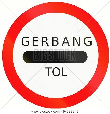 Stop - Toll Plaza In Indonesia