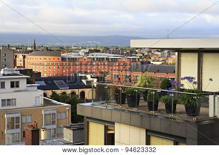 Morning view of downtown Dublin.