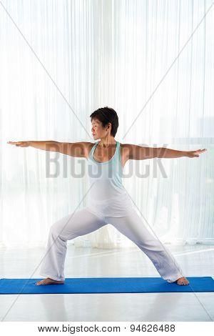 Performing Warrior Pose