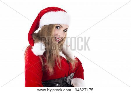 Attractive Female Santa Claus