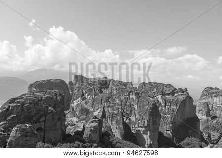 Rocky  Environment Of Meteora Valley