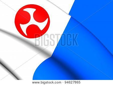 Flag Of Jeju Province, South Korea.