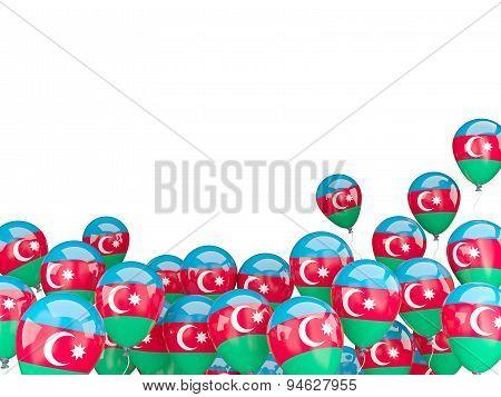 Flying Balloons With Flag Of Azerbaijan