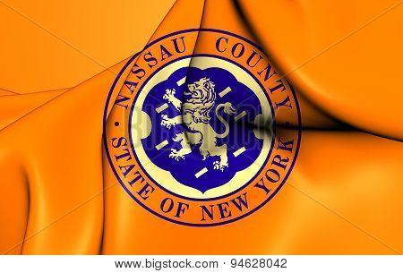 Flag Of The Nassau County, Usa.