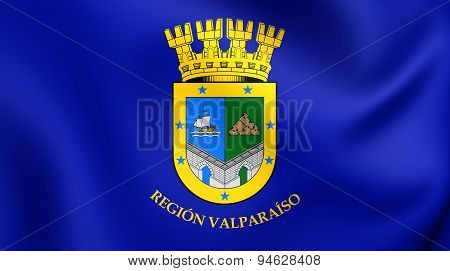 Flag Of Valparaiso Region, Chile.