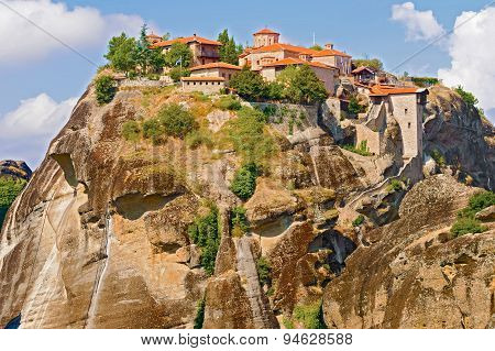 The Holy Monastery Of Great Meteoron In Greece