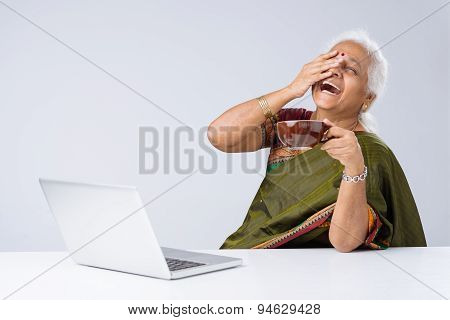 Laughing Indian Woman