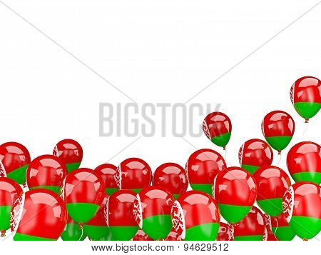 Flying Balloons With Flag Of Belarus
