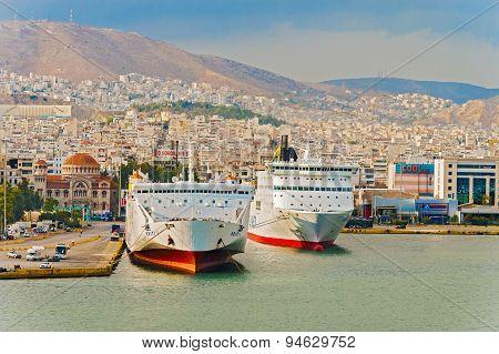 Passenger Port Piraeus, Athens.