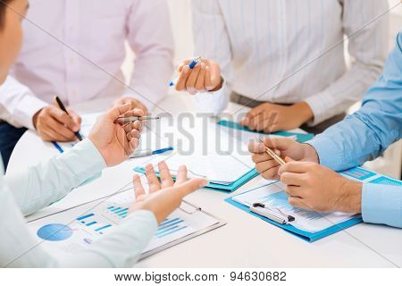 Discussing Financial Documents