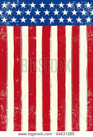 American retro grunge flag. An american grunge flag for you