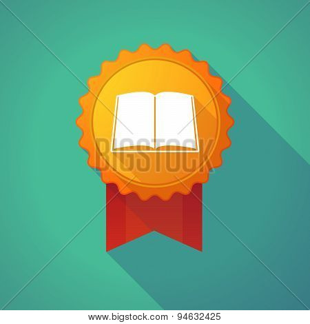 Long Shadow Badge With A Book